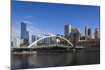 Australia, Victoria, Melbourne, Skyline from Yarra River-Walter Bibikow-Mounted Photographic Print