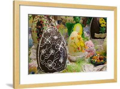 Australia. Easter Display of Decorated Chocolate Eggs and Candy-Cindy Miller Hopkins-Framed Photographic Print