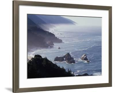 California, Big Sur Coast, Sea Stacks Along the Central Coast-Christopher Talbot Frank-Framed Photographic Print