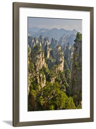 China, Hallelujah Mountains, Wulingyuan, Landscape and Many Peaks-Darrell Gulin-Framed Photographic Print