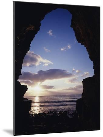 California, San Diego, Sunset Cliffs, Sunset Seen Through a Sea Cave-Christopher Talbot Frank-Mounted Photographic Print