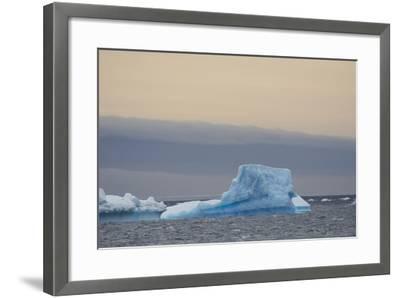 Antarctica. Brown Bluff. Bright Blue Iceberg-Inger Hogstrom-Framed Photographic Print