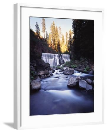 California, Shasta Trinity Nf, Middle Fall on the Mccloud River-Christopher Talbot Frank-Framed Photographic Print