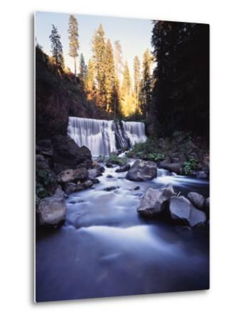 California, Shasta Trinity Nf, Middle Fall on the Mccloud River-Christopher Talbot Frank-Metal Print