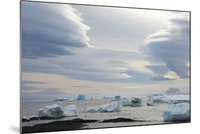Antarctica. Brown Bluff. Lenticular Clouds Show Katabatic Winds-Inger Hogstrom-Mounted Photographic Print
