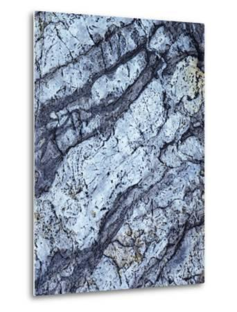 California, Sierra Nevada Mts, Inyo Nf, Patterns of a Rock Formation-Christopher Talbot Frank-Metal Print