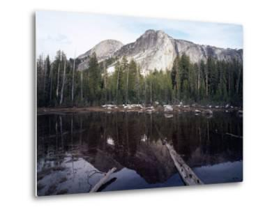 California, Sierra Nevada, Yosemite National Park, Mts Reflecting in a Tarn-Christopher Talbot Frank-Metal Print