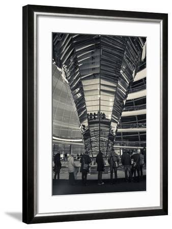 Germany, Berlin, Reichstag, Dome Interior, Evening-Walter Bibikow-Framed Photographic Print