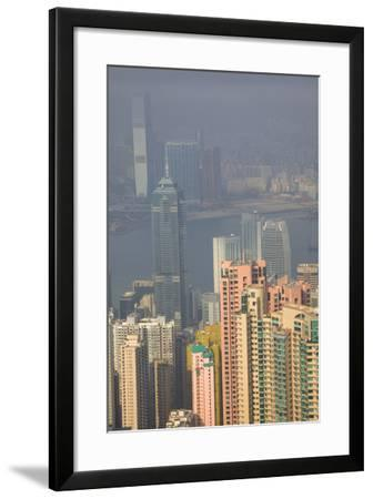 China, Hong Kong, View of Downtown Area from the Peak Viewing Area-Terry Eggers-Framed Photographic Print