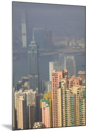 China, Hong Kong, View of Downtown Area from the Peak Viewing Area-Terry Eggers-Mounted Photographic Print