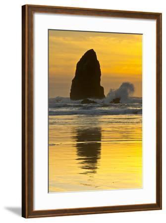 Sunset, Cannon Beach, Oregon, USA-Michel Hersen-Framed Photographic Print