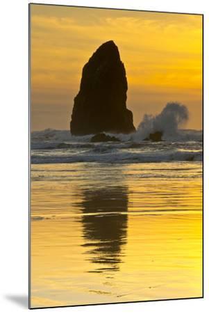 Sunset, Cannon Beach, Oregon, USA-Michel Hersen-Mounted Photographic Print