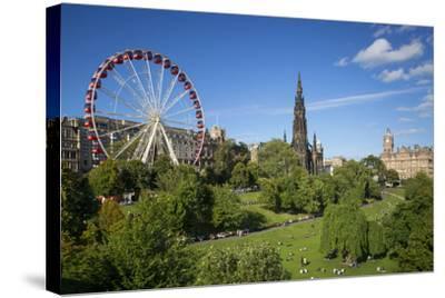 Princes Street Gardens with the Festival Wheel, Edinburgh, Scotland-Brian Jannsen-Stretched Canvas Print