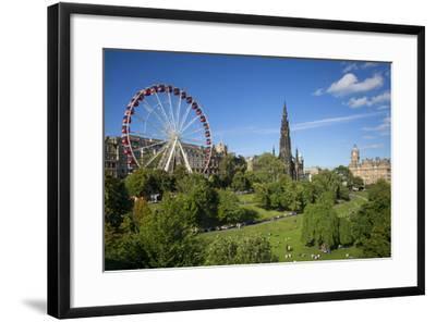Princes Street Gardens with the Festival Wheel, Edinburgh, Scotland-Brian Jannsen-Framed Photographic Print