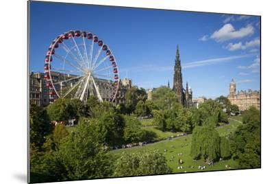 Princes Street Gardens with the Festival Wheel, Edinburgh, Scotland-Brian Jannsen-Mounted Photographic Print