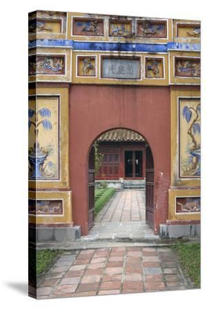 Asia, Vietnam. Arched Entrance Gate, the Citadel, Hue, Thua Thien?Hue-Kevin Oke-Stretched Canvas Print