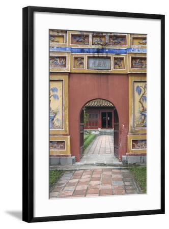 Asia, Vietnam. Arched Entrance Gate, the Citadel, Hue, Thua Thien?Hue-Kevin Oke-Framed Photographic Print