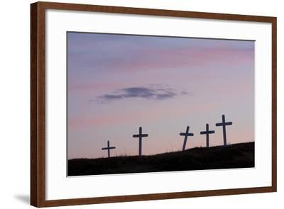 Grave Markers, Seward Peninsula, Alaska-Ken Archer-Framed Photographic Print