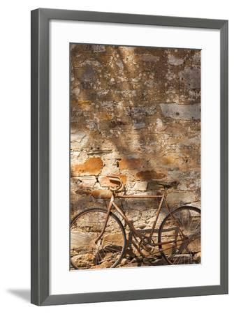 Australia, Clare Valley, Sevenhill, Old Bicycle-Walter Bibikow-Framed Photographic Print