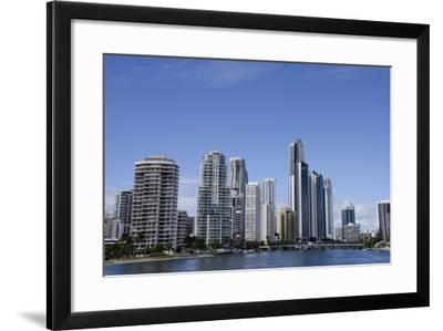 Australia, Queensland, Gold Coast. Waterfront View of Surfers Paradise-Cindy Miller Hopkins-Framed Photographic Print