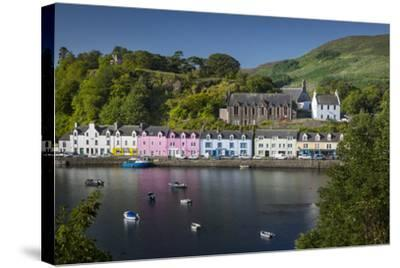 Small Town of Portree on the Isle of Skye, Scotland-Brian Jannsen-Stretched Canvas Print