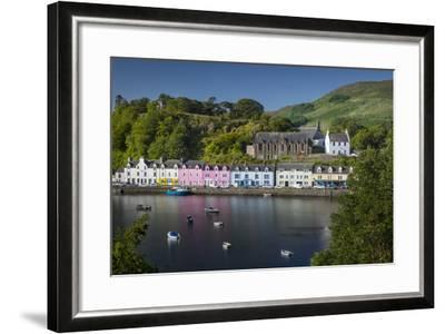 Small Town of Portree on the Isle of Skye, Scotland-Brian Jannsen-Framed Photographic Print