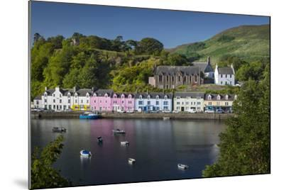 Small Town of Portree on the Isle of Skye, Scotland-Brian Jannsen-Mounted Photographic Print