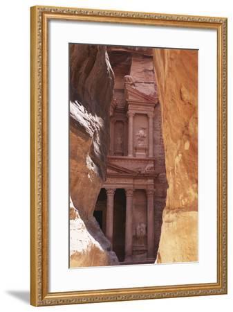 Jordan, the Treasury at Petra-Steve Roxbury-Framed Photographic Print