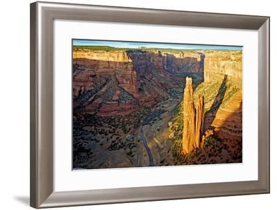 Spider Rock in Canyon De Chelly, Arizona-Richard Wright-Framed Photographic Print