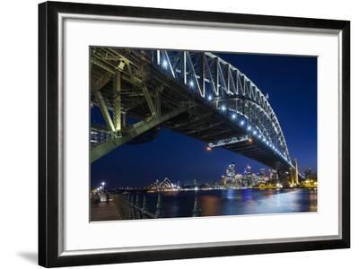 Australia, Sydney Harbor Bridge and Skyline from Milsons Point-Walter Bibikow-Framed Photographic Print