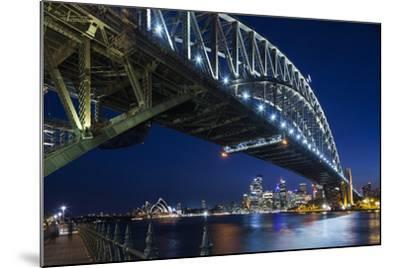 Australia, Sydney Harbor Bridge and Skyline from Milsons Point-Walter Bibikow-Mounted Photographic Print