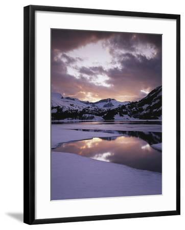California, Sierra Nevada, Inyo Nf, Frozen Ellery Lake at Sunset-Christopher Talbot Frank-Framed Photographic Print