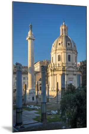 Trajans Column and Ruins of Trajans Forum, Rome Lazio Italy-Brian Jannsen-Mounted Photographic Print