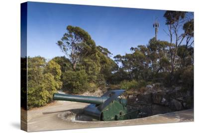 Australia, Albany, Princess Royal Fort, Mt Adelaide, Artillery-Walter Bibikow-Stretched Canvas Print