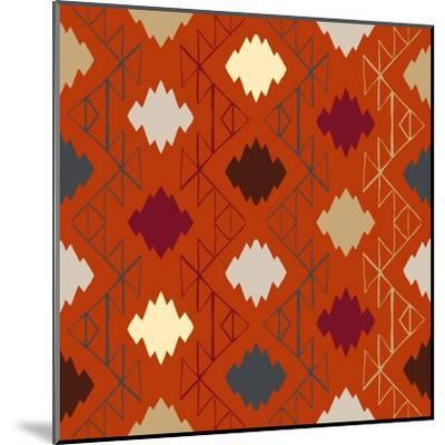 Vector Navajo Tribal Ornament-tukkki-Mounted Art Print