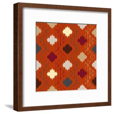 Vector Navajo Tribal Ornament-tukkki-Framed Art Print