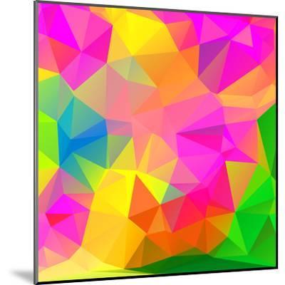 Abstract Mosaic Pattern- TAlex-Mounted Art Print