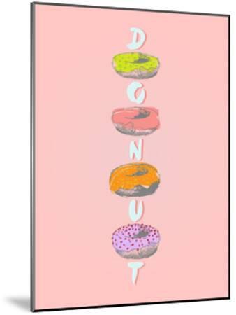 Donuts in Various Glaze Poster-ONiONAstudio-Mounted Art Print