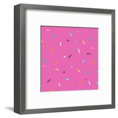 Pink Background Donut-Evgeny Bakal-Framed Art Print