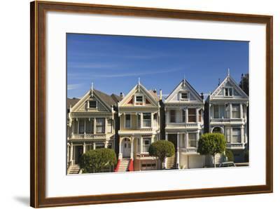 Victorian Style Homes Near Alamo Square; San Francisco California United States of America-Design Pics Inc-Framed Photographic Print