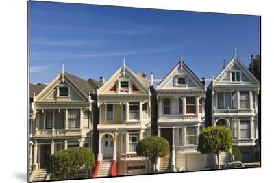 Victorian Style Homes Near Alamo Square; San Francisco California United States of America-Design Pics Inc-Mounted Photographic Print