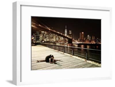 A Classic Ballerina Dances in Brooklyn Bridge Park-Kike Calvo-Framed Premium Photographic Print
