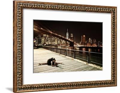 A Classic Ballerina Dances in Brooklyn Bridge Park-Kike Calvo-Framed Photographic Print
