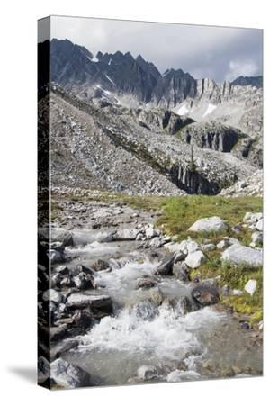 Mountain Stream and Mountains; British Columbia, Canada-Design Pics Inc-Stretched Canvas Print