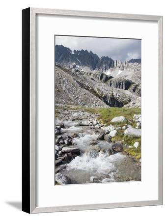 Mountain Stream and Mountains; British Columbia, Canada-Design Pics Inc-Framed Photographic Print