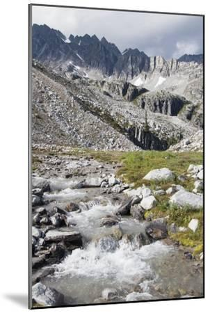 Mountain Stream and Mountains; British Columbia, Canada-Design Pics Inc-Mounted Photographic Print