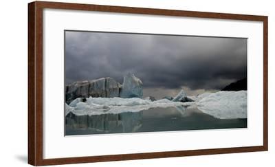 View of Ice Bergs in Resurrection Bay from Bear Glacier in Kenai Fjords National Park, Alaska-Design Pics Inc-Framed Photographic Print