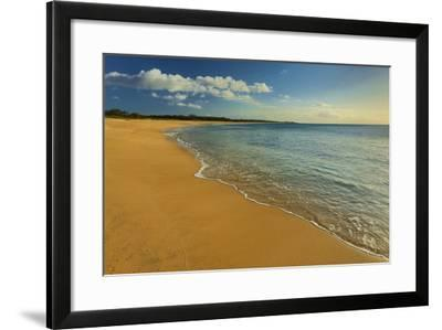 Two Mile Long Papohaku Beach, on the West End of Molokai Island-Richard Cooke-Framed Photographic Print