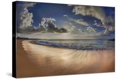 Two Mile Long Papohaku Beach, on West End of Molokai Island-Richard Cooke-Stretched Canvas Print
