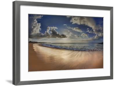 Two Mile Long Papohaku Beach, on West End of Molokai Island-Richard Cooke-Framed Photographic Print